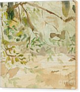 The Breeze Between Wood Print