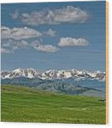 The Bridger Mountains Wood Print
