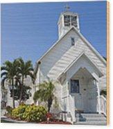 The Community Chapel Of Melbourne Beach Florida Wood Print