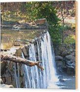 The Dam At Cedarock Wood Print
