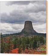 The Devils-tower Wy Wood Print