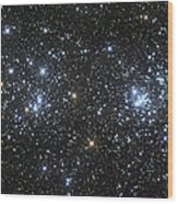 The Double Cluster, Ngc 884 And Ngc 869 Wood Print