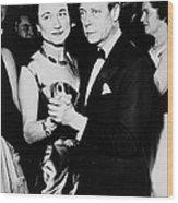 The Duke And Duchess Of Windsor Wood Print