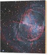 The Dumbbell Nebula Wood Print