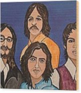 The Fab Four Beatles  Wood Print