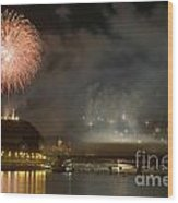 The Firework Wood Print by Odon Czintos