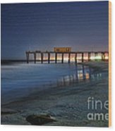 The Fishing Pier Wood Print by Paul Ward