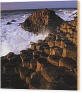 The Giants Causeway, County Antrim Wood Print