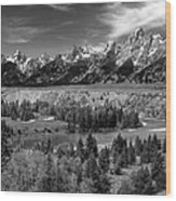 The Grand Tetons And The Snake River Wood Print