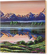 The Grand Tetons Wood Print