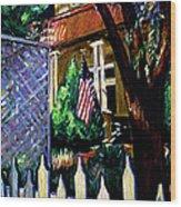 The Grant House Wood Print