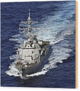 The Guided Missile Destroyer Uss Nitze Wood Print