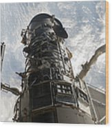 The Hubble Space Telescope Wood Print
