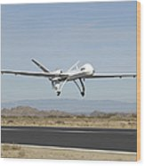 The Ikhana Unmanned Aircraft Wood Print
