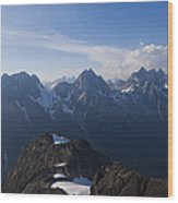 The Jagged Tops Of High Mountain Peaks Wood Print