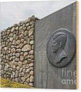 The John F. Kennedy Memorial At Veterans Memorial Park In Hyanni Wood Print