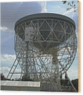 The Lovell Telescope At Jodrell Bank Wood Print