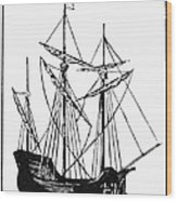 The Mayflower Wood Print