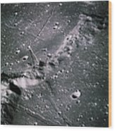 The Moon From Apollo 14 Wood Print