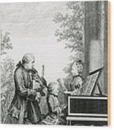 The Mozart Family On Tour, 1763 Wood Print