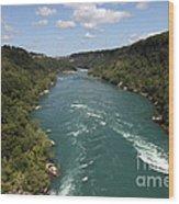 The Niagara River Wood Print