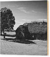 the old leanach cottage on Culloden moor battlefield site highlands scotland Wood Print by Joe Fox