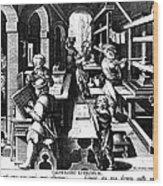 The Printing Of Books Wood Print