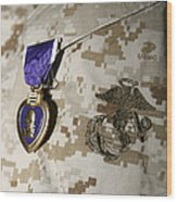 The Purple Heart Award Wood Print by Stocktrek Images