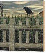 The Raven Wood Print