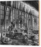 The Red Barn Of The Boeing Company Iv Wood Print