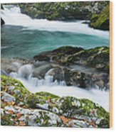 The Soteska Vintgar Gorge In Autumn Wood Print