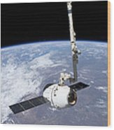 The Spacex Dragon Cargo Craft Wood Print