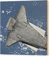 The Underside Of Space Shuttle Wood Print