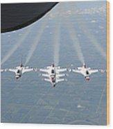 The U.s. Air Force Thunderbird Wood Print