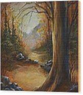 'the Walk' Wood Print