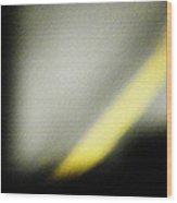 The Yellow Line Wood Print