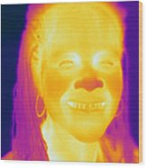 Thermogram Of A Woman Wood Print