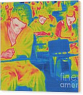 Thermogram Of Students In A Lecture Wood Print