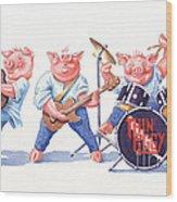 Thin Piggy Wood Print
