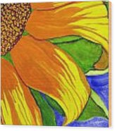 This Is No Subdued Sunflower Wood Print