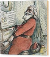 Thomas Nast: Santa Claus Wood Print