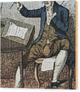 Thomas Paine, American Founding Father Wood Print by Photo Researchers