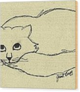 Thomas The Cat Wood Print