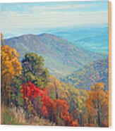 Thornton Gap Wood Print