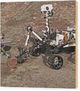 Three Generations Of Mars Rovers Wood Print
