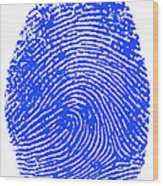 Thumbprint Wood Print