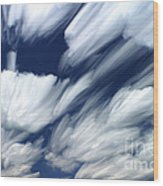 Time-lapse Clouds Wood Print