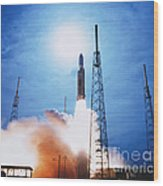 Titan Iv Rocket Wood Print