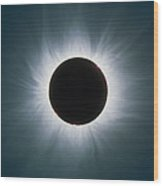 Total Solar Eclipse With Corona Wood Print