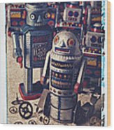 Toy Robots Wood Print